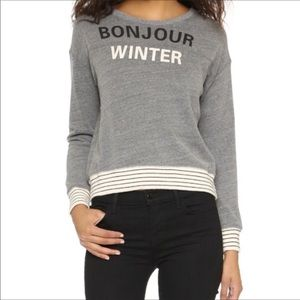 Sundry bonjour winter pullover sweater TB2